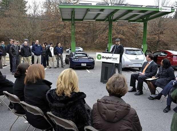 North Carolina Car Charging Station opens 12/13/11