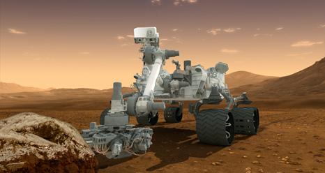 Martian Rover, the Curiosity